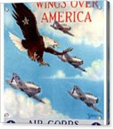 Wings Over America - Air Corps U.s. Army Acrylic Print