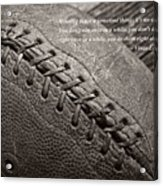 Winning Quote From Vince Lombardi Acrylic Print