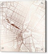 Winnipeg Street Map Colorful Copper Modern Minimalist Acrylic Print