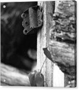 Winslow Cabin Door Detail Acrylic Print