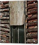 Winslow Cabin Window Acrylic Print