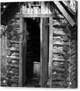 Winslow Log Outhouse Acrylic Print