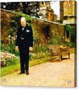 Winston Churchill, 1943 Acrylic Print