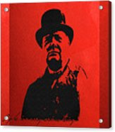 Winston Churchill - A Joke Is A Very Serious Thing Acrylic Print