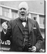 Winston Churchill Campaigning - 1945 Acrylic Print