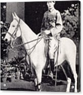 Winston Churchill On Horseback In Bangalore, India In 1897 Acrylic Print