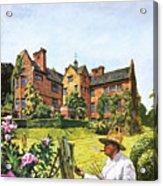 Winston Churchill Painting At Chartwell Acrylic Print