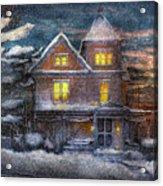 Winter - Clinton Nj - A Victorian Christmas  Acrylic Print