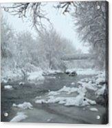 Winter Along Clear Creek Acrylic Print