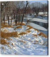 Winter Along The Little Sioux Acrylic Print