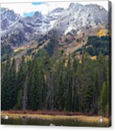 Winter And Fall Mix Acrylic Print