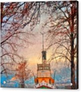 Winter And The Tug Boat Acrylic Print