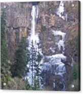 Winter At Multnomah Falls Acrylic Print