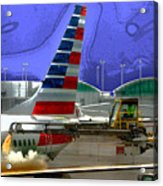 Winter At The Airport Acrylic Print