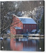 Winter At The Clinton Mill Acrylic Print
