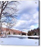 Winter At The Dam Acrylic Print