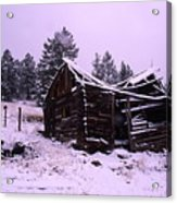 Winter At The Homestead Acrylic Print