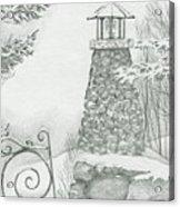 Winter At The Lake Acrylic Print