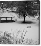 Winter At The Park Acrylic Print