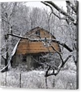 Winter Barn Iv Acrylic Print