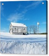 Winter Barn Acrylic Print by Joyce Kimble Smith