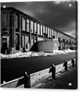 Winter Bates Mill Acrylic Print