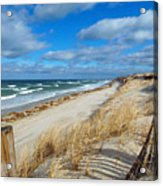 Winter Beach View Acrylic Print