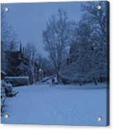 Winter Blue Britain Acrylic Print