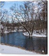 Winter Blue James River Acrylic Print