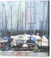Winter Blues, Sal Boats, Boating Paintings, Boat Paintings, Boat Prints Acrylic Print