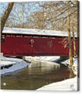 Winter Bridge  Acrylic Print
