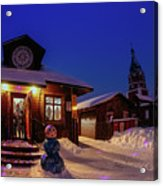 Winter Christmas Evening Lights Acrylic Print