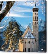 Winter Church In Bavaria Acrylic Print
