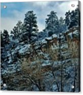Winter Cliff Acrylic Print
