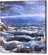 Winter Coastal Storm Acrylic Print by Jack Skinner