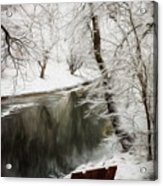 Winter Contemplation Watercolor Painting Acrylic Print