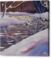 Winter Creek Acrylic Print
