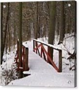 Winter Crossing Acrylic Print