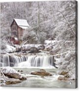 Winter Day At The Mill  Acrylic Print