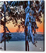 Winter Drama Sunrise Panorama Acrylic Print