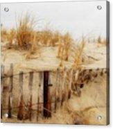 Winter Dune - Jersey Shore Acrylic Print