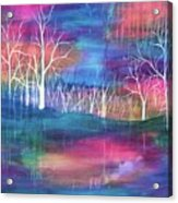 Winter Embraces Spring Acrylic Print
