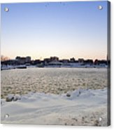 Winter Evening In Racine Acrylic Print