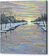 Winter Expression Sunrise Acrylic Print