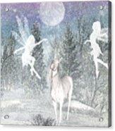 Winter Fairy Magic Acrylic Print