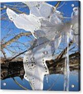 Winter Fairy Wings Acrylic Print
