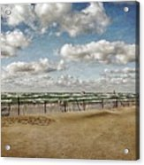 Winter Fences In Grand Haven 3.0 Acrylic Print