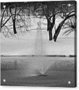 Winter Fountain Acrylic Print