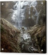 Winter Freeze At Multnomah Falls Acrylic Print