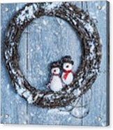 Winter Garland Acrylic Print